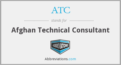 ATC - Afghan Technical Consultant