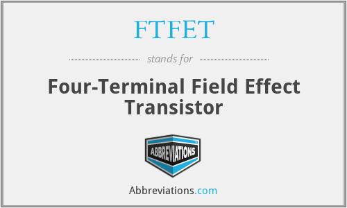 FTFET - Four-Terminal Field Effect Transistor