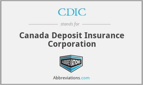 CDIC - Canada Deposit Insurance Corporation