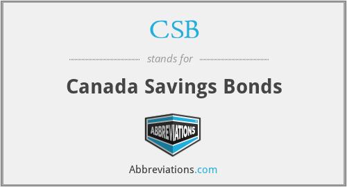 CSB - Canada Savings Bonds