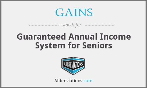GAINS - Guaranteed Annual Income System for Seniors