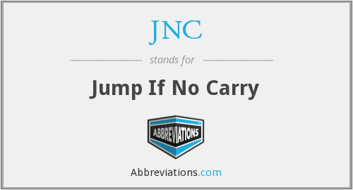 JNC - Jump If No Carry