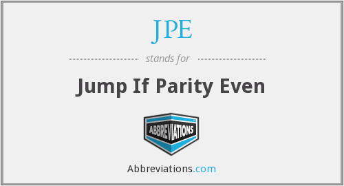 JPE - Jump If Parity Even