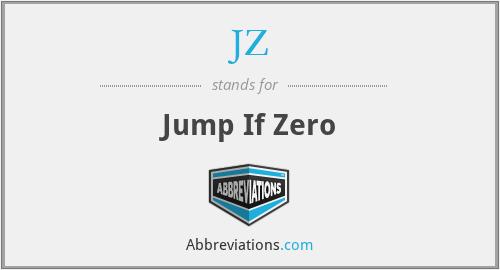 JZ - Jump If Zero