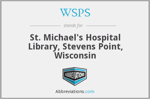 WSPS - St. Michael's Hospital Library, Stevens Point, Wisconsin