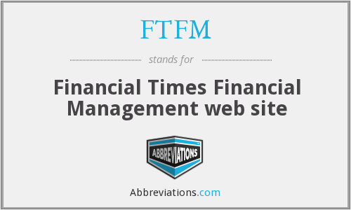 FTFM - Financial Times Financial Management web site