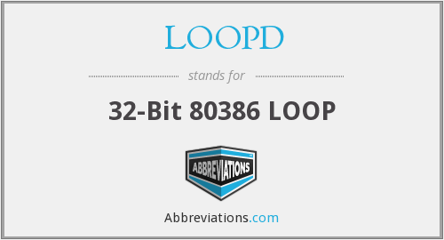 What does LOOPD stand for?