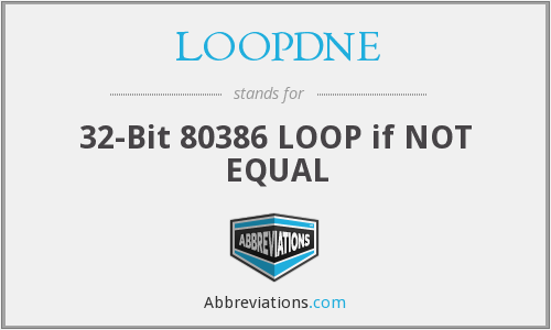What does LOOPDNE stand for?