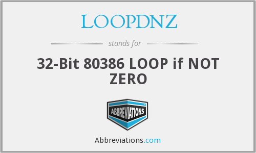 What does LOOPDNZ stand for?