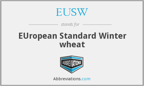 EUSW - EUropean Standard Winter wheat