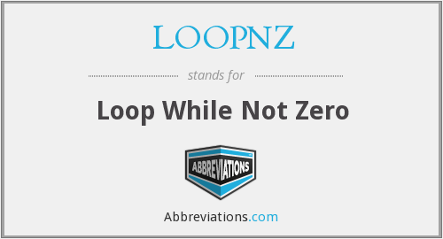 What does LOOPNZ stand for?