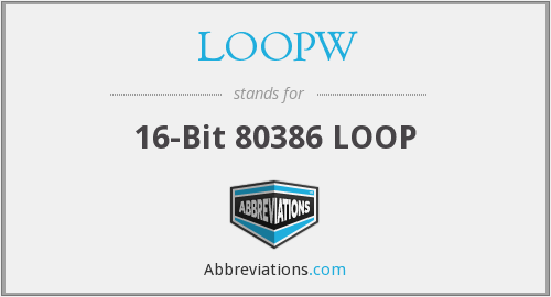 What does LOOPW stand for?