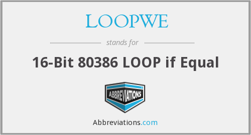 What does LOOPWE stand for?