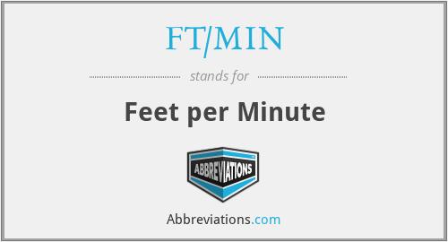FT/MIN - Feet per Minute
