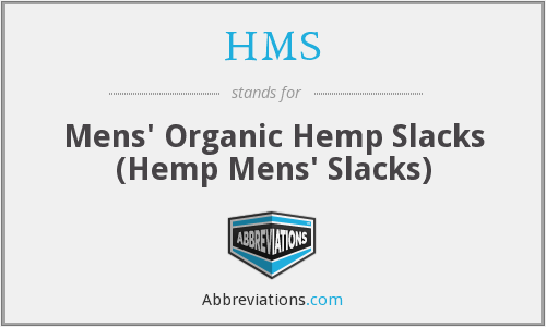 HMS - Mens' Organic Hemp Slacks (Hemp Mens' Slacks)