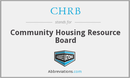 CHRB - Community Housing Resource Board