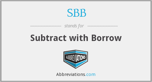 SBB - Subtract with Borrow