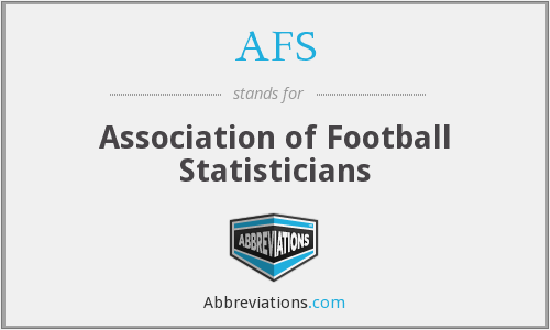 AFS - Association of Football Statisticians