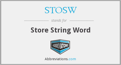 STOSW - Store String Word