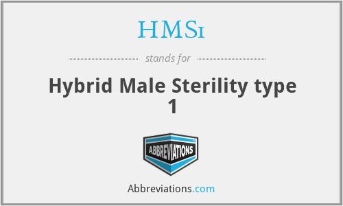 HMS1 - Hybrid Male Sterility type 1