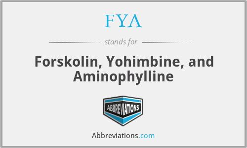 FYA - Forskolin, Yohimbine, and Aminophylline