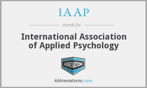 IAAP - International Association of Applied Psychology