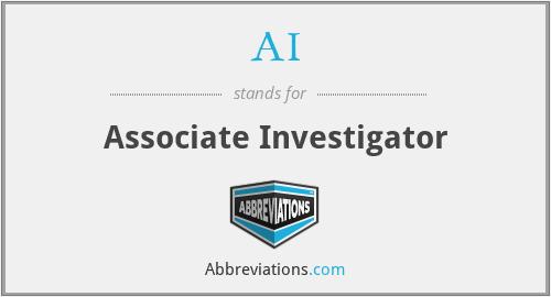 AI - Associate Investigator