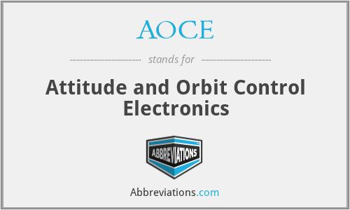 AOCE - Attitude and Orbit Control Electronics