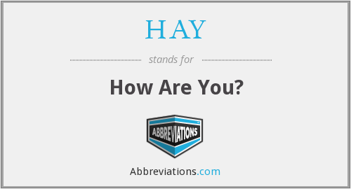 HAY - How Are You?