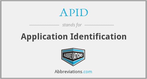 APID - Application Identification