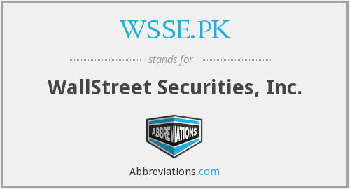 WSSE.PK - WallStreet Securities, Inc.