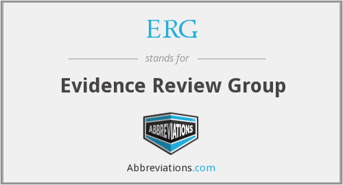 ERG - Evidence Review Group