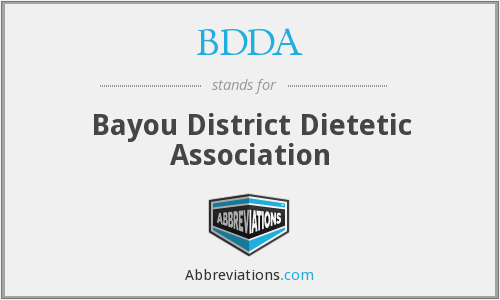 BDDA - Bayou District Dietetic Association