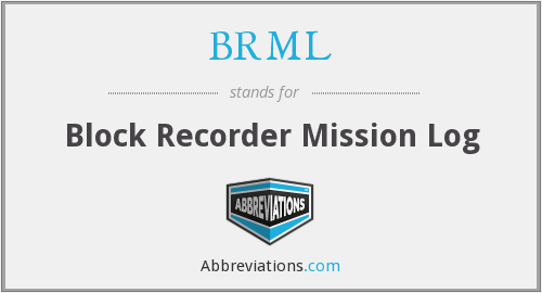 BRML - Block Recorder Mission Log