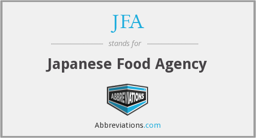 JFA - Japanese Food Agency
