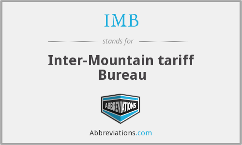 IMB - Inter-Mountain tariff Bureau