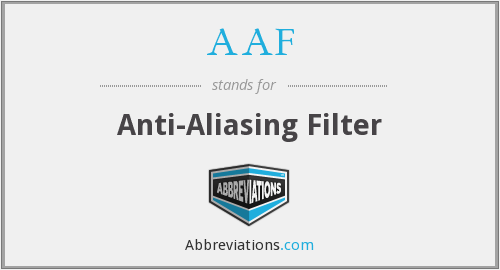 AAF - Anti-Aliasing Filter