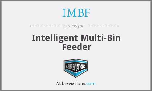 IMBF - Intelligent Multi-Bin Feeder