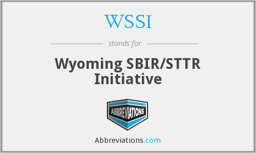 WSSI - Wyoming SBIR/STTR Initiative