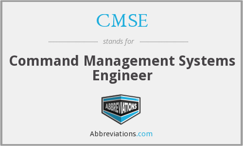 What does CMSE stand for?