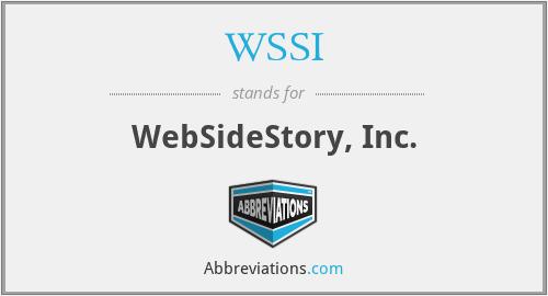 WSSI - WebSideStory, Inc.