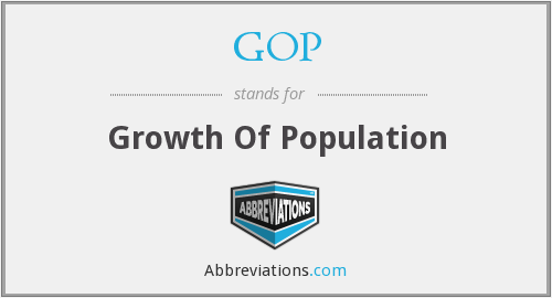 GOP - Growth Of Population