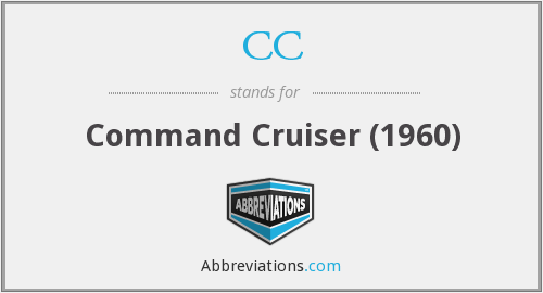 CC - Command Cruiser (1960)