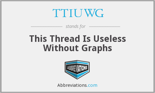 TTIUWG - This Thread Is Useless Without Graphs