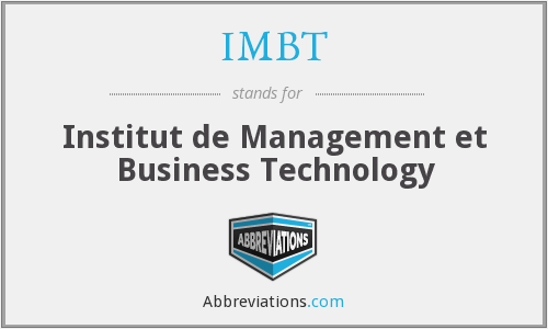 IMBT - Institut de Management et Business Technology