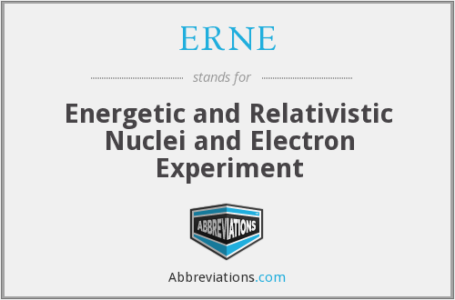 What does ERNE stand for?