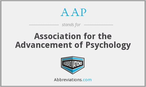 AAP - Association for the Advancement of Psychology