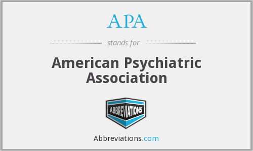 APA - American Psychiatric Association