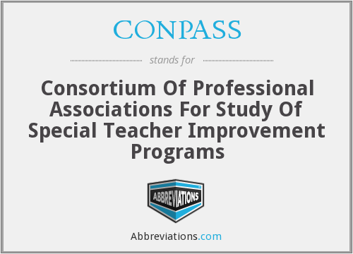 CONPASS - Consortium Of Professional Associations For Study Of Special Teacher Improvement Programs