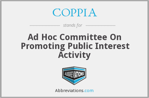COPPIA - Ad Hoc Committee On Promoting Public Interest Activity